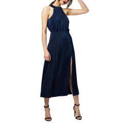 Constance Double Slit Satin Dress