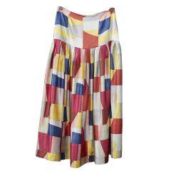 Fold Drop Skirt - Colourblock