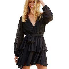 Ines Rouleau Dress Black