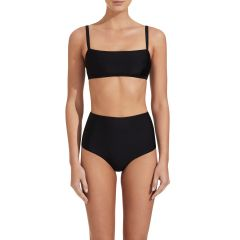 The Square Crop Top Black