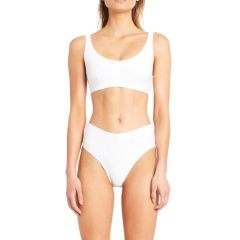 Signature Waistband Bralette Top - White